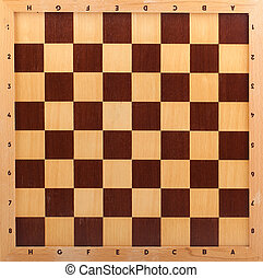 wooden chessboard isolated on white background - wooden...