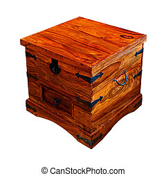 Wooden chest angle