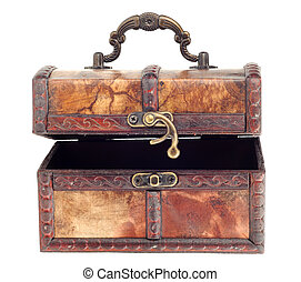 Wooden chest with hook