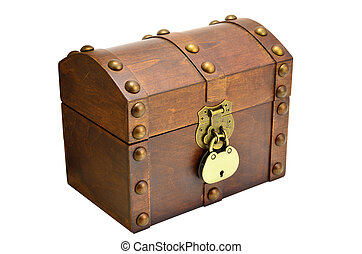 wooden chest with lock