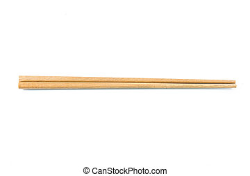 Wooden chopsticks - Wooden pairs of chopsticks on white...