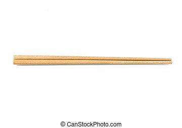 Wooden chopsticks - Wooden pairs of chopsticks on white ...
