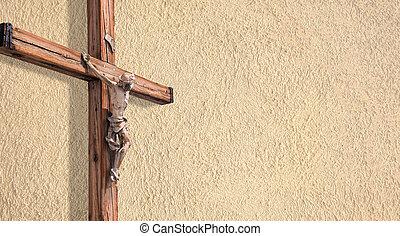 Wooden christian cross.