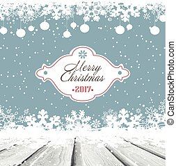 Wooden Christmas And New Year Grunge Background