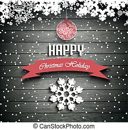 Wooden Christmas Holiday Winter Background