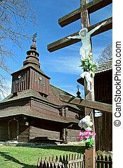 wooden church - church of archangel Michael (slovak: Kostol...
