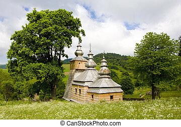 wooden church, Dubne, Poland