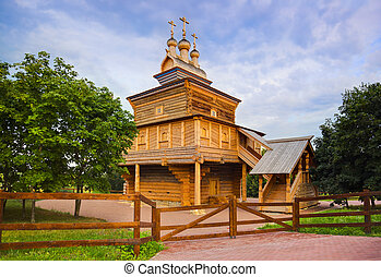 Wooden church in Kolomenskoe - Moscow Russia