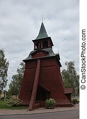 Wooden Church In Malung