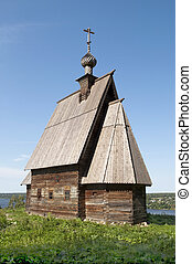 Wooden church in Ples, Russia