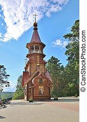 Wooden church in Siberia, Russia