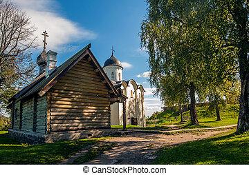 Wooden Church in Staraya Ladoga