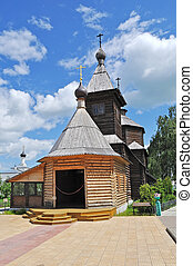 Wooden church of Sergey Radonezhsky in Murom, Russia