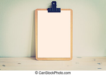 Wooden clipboard mock up - Image of a wooden clipboard mocku...