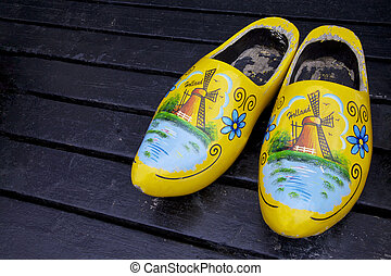Wooden clogs shoes, Netherlands, Europe