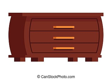 clothes cupboard icon cartoon isolated