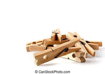Wooden clothes pegs for clothes drying