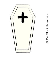 wooden coffin cross death funeral