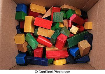 wooden color 3d shapes toys