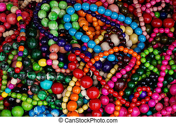 wooden color beads texture