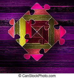 Wooden color puzzle background. + EPS10