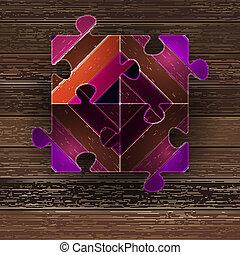 Wooden color puzzle background.  + EPS8