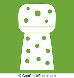 Wooden cork icon green
