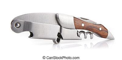 "Wooden corkscrew of type ""sommelier knife"""
