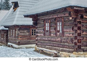 Wooden cottages in Zuberec, Slovakia