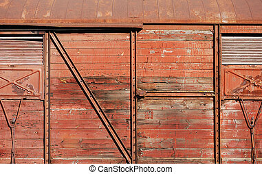 Wooden covered goods wagon