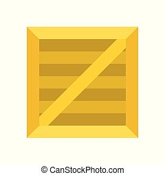 Wooden Crate box icon in flat design