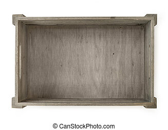 Wooden crate - Empty wooden crate isolated on white