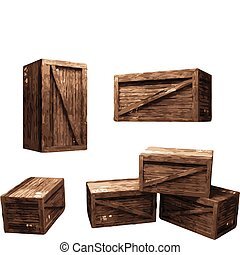 Wooden Crate made in vector