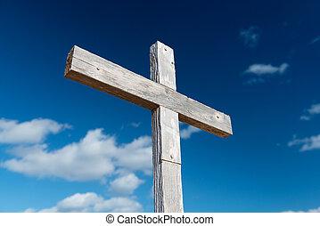 Wooden Cross Against Sky