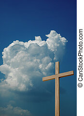 Wooden Cross and Sky