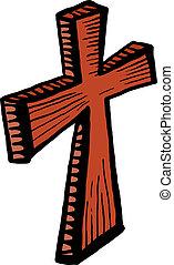 Wooden Cross Clip Art