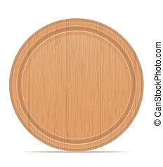 wooden cutting board vector illustration