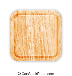 Wooden Cutting Board With Groove. Vector