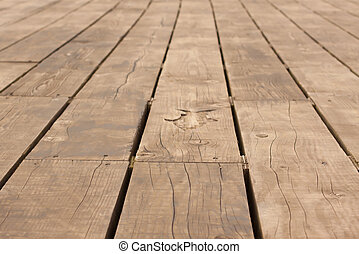 Wooden Decking on a Pier
