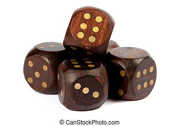 Wooden dice