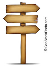 Wooden Directions Arrow Signs - Wooden direction arrow sign...