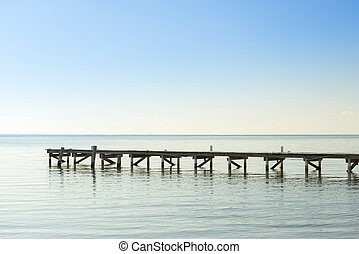 Wooden Dock As Minimalism Background