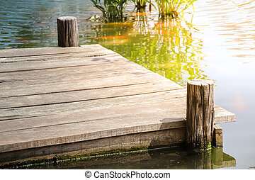 Wooden dock on the lake