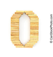 Wooden domino alphabet, O