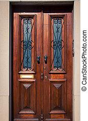 Wooden door in Portugal
