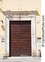 Wooden door. Narni. Umbria. Italy.