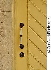 Wooden door with  handle