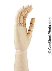 wooden dummy hand
