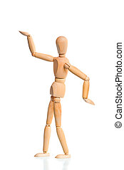 wooden dummy in the traditional Egyptian pose