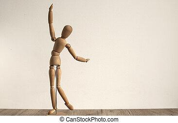 Wooden dummy toy